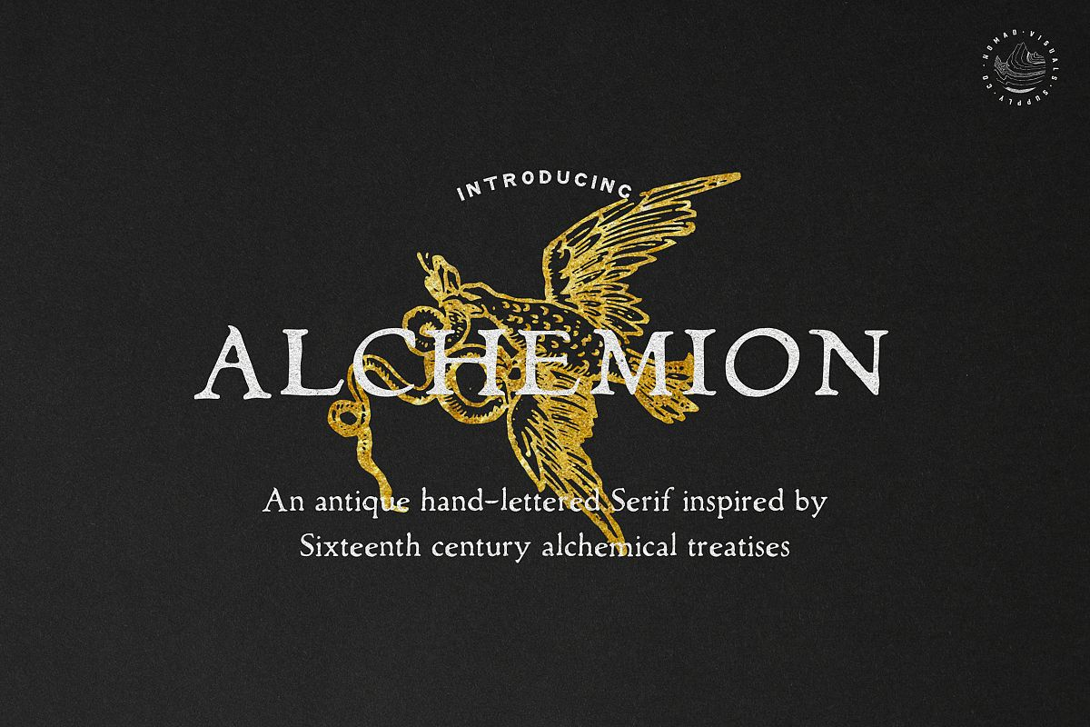Alchemion Display Serif Font example image 1