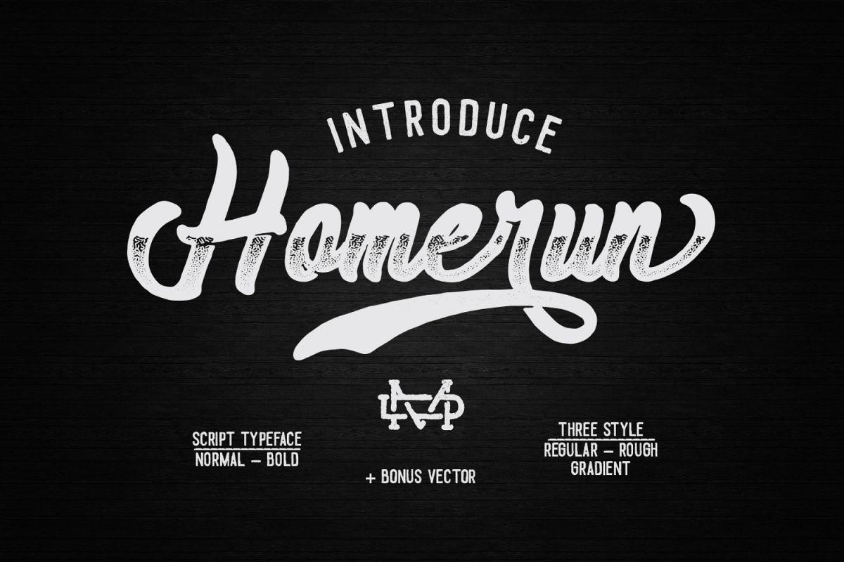 Homerun Typeface I 30%OFF example image 1