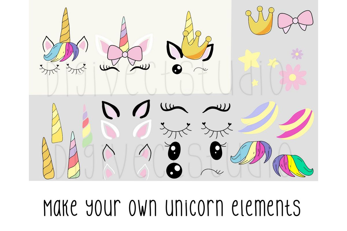 Create your own unicorn - PNG - SVG example image 1
