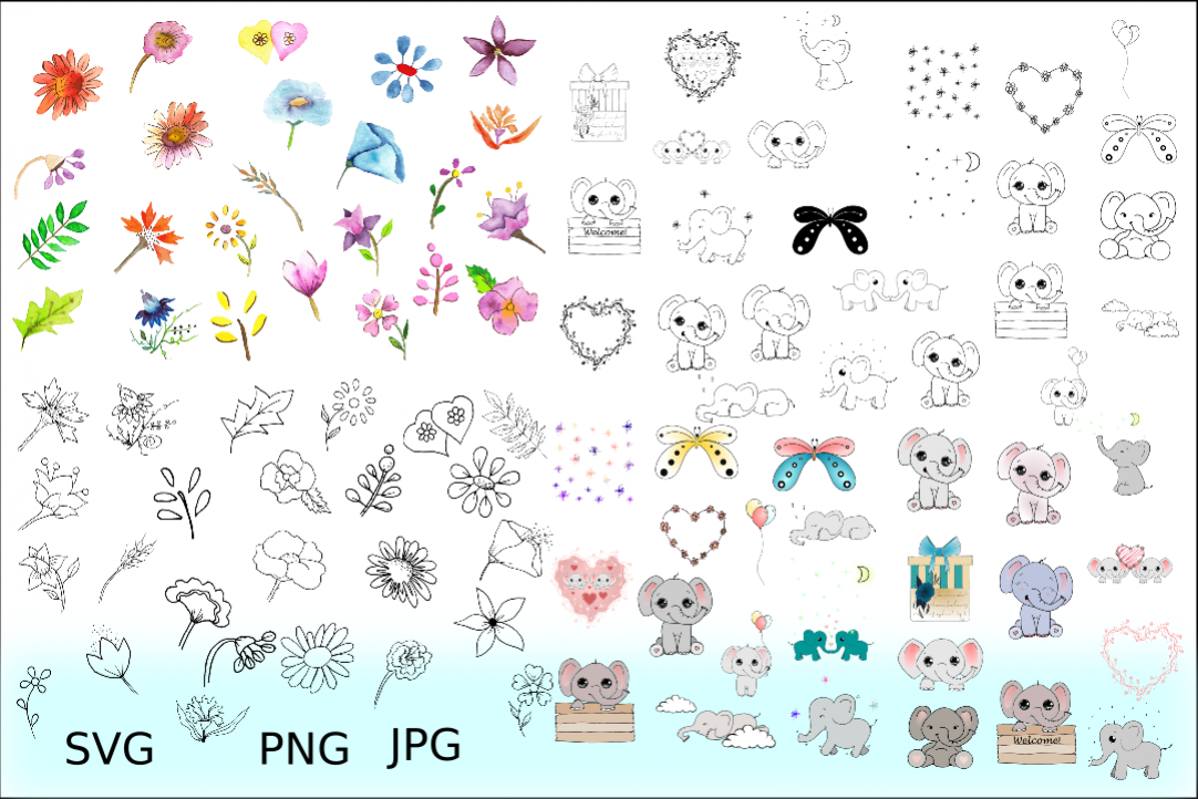 Doodles Cliparts Bundles example image 1
