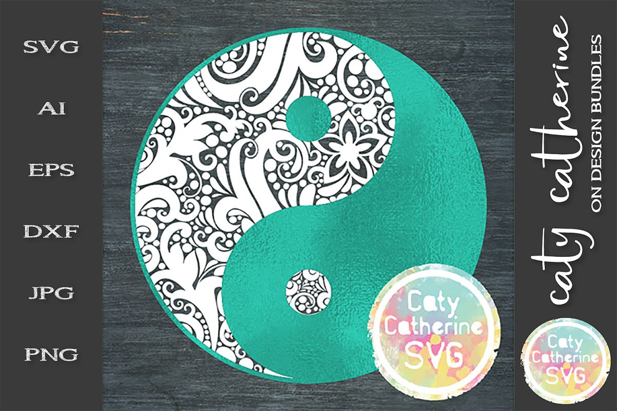 Yin And Yang SVG Cut File example image 1