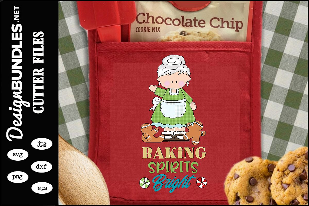Baking Spirits Bright Sublimation Design example image 1