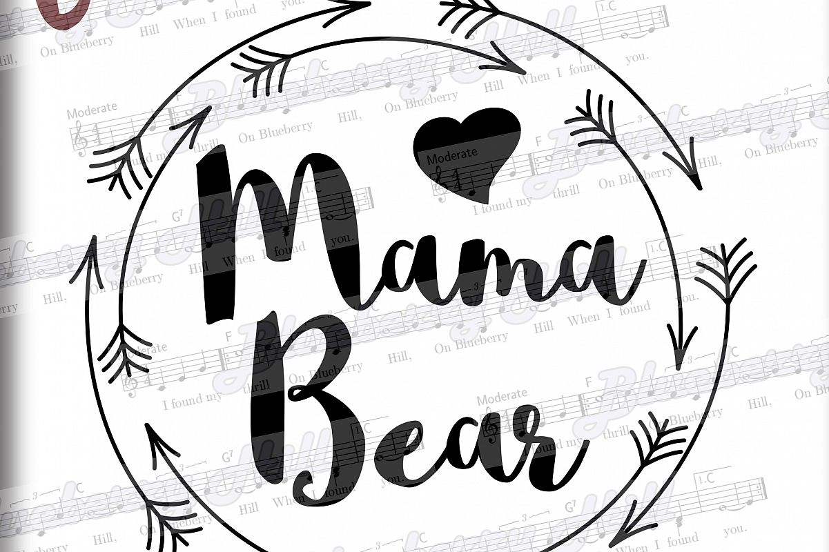 Mama bear SVG Mothers Day svg digital - mama bear clipart example image 1