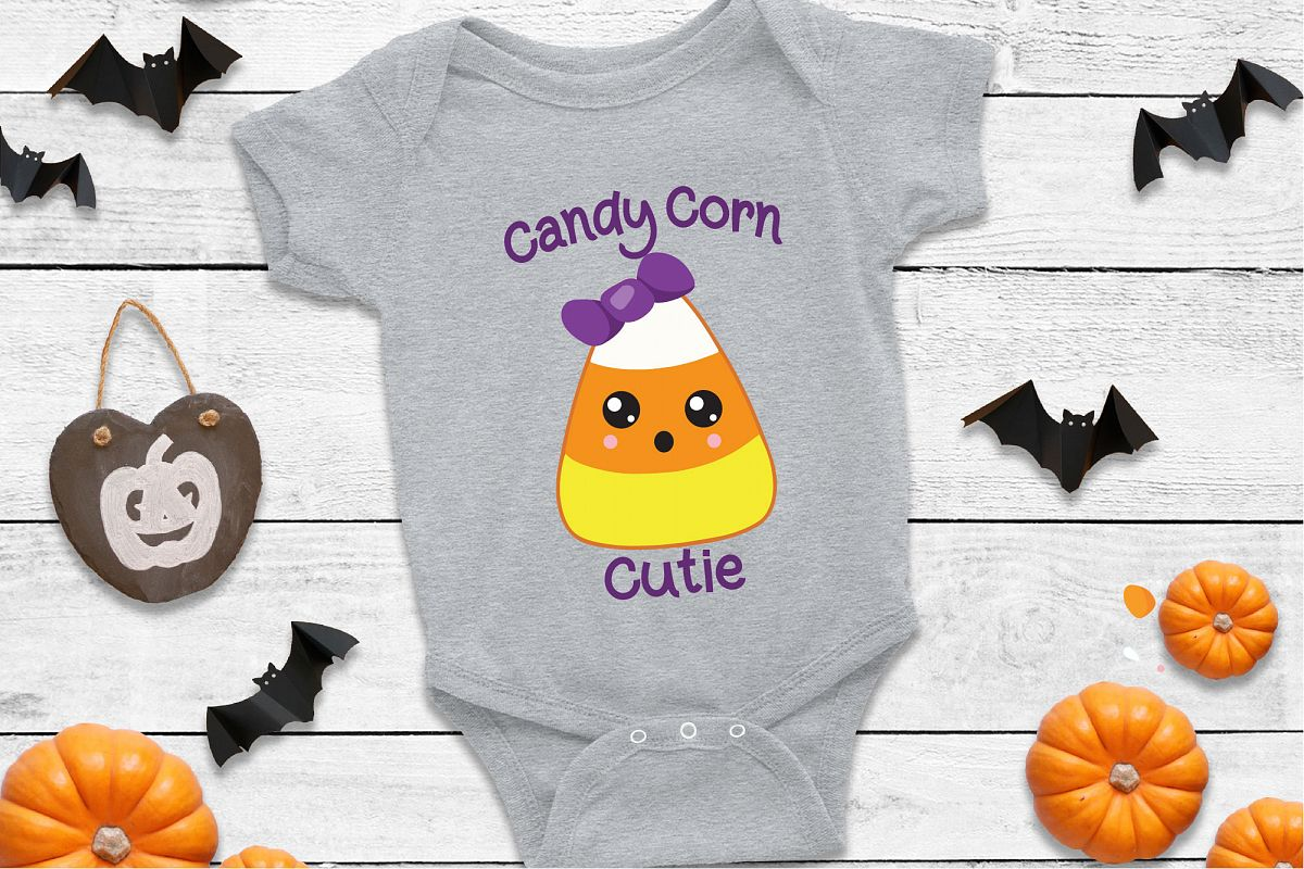 Candy Corn Cutie SVG Sublimation, Halloween SVG File example image 1