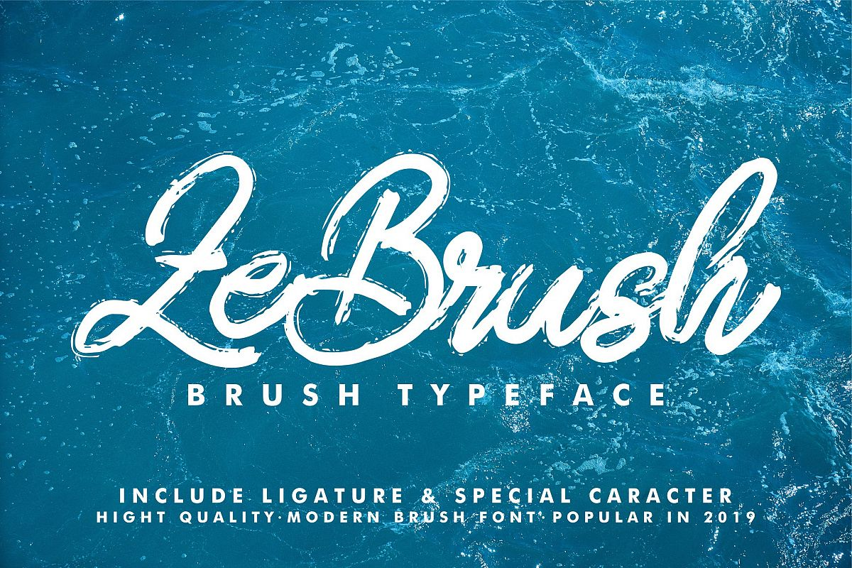ZeBrush | Brush Script Font example image 1