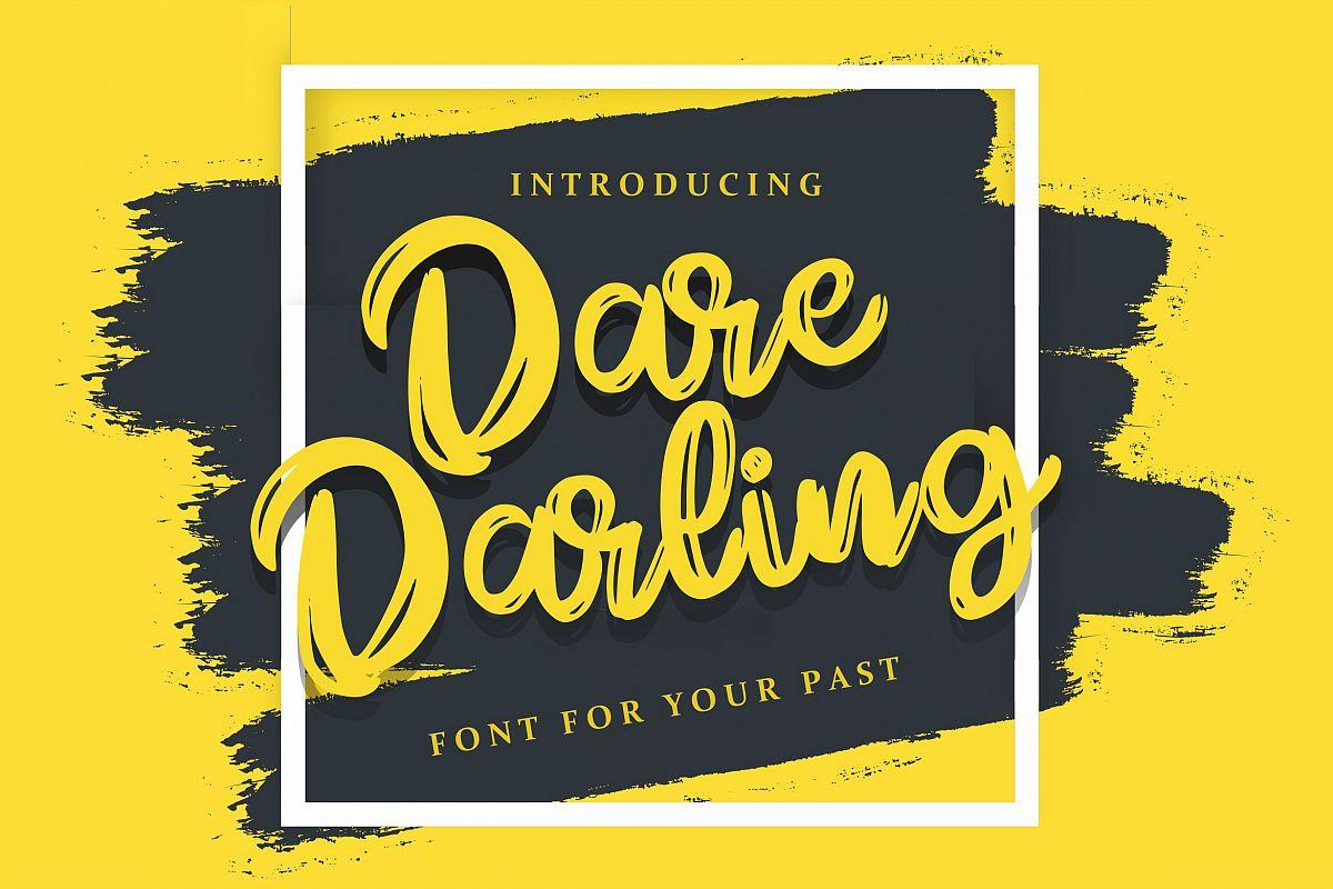 Dare Daling | Script Brush Font example image 1