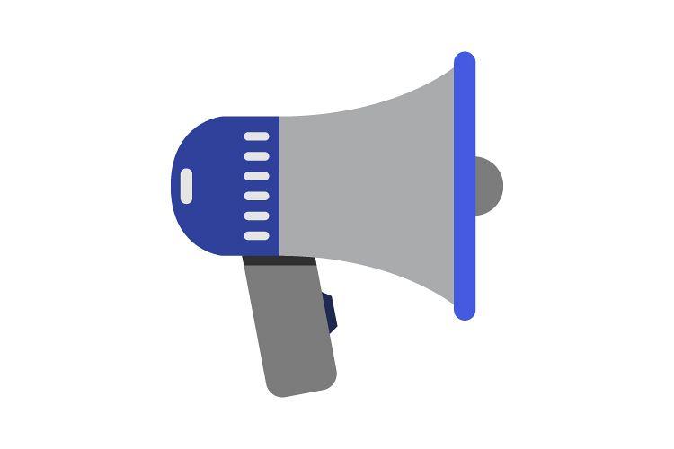 Megaphone icon example image 1