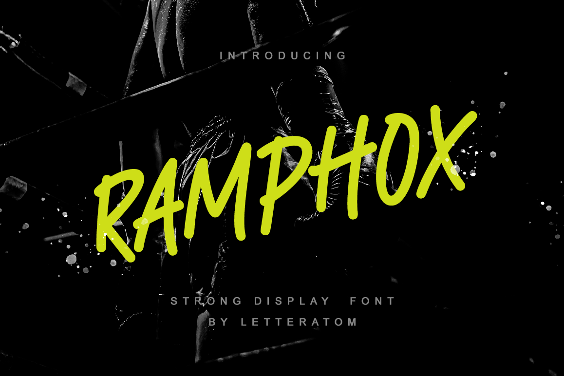 RAMPHOX | Strong Display Font example image 1