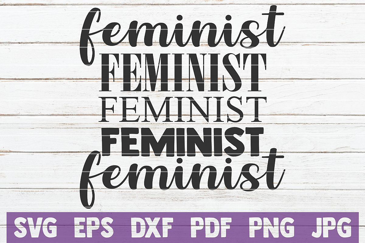 Feminist SVG Cut File example image 1