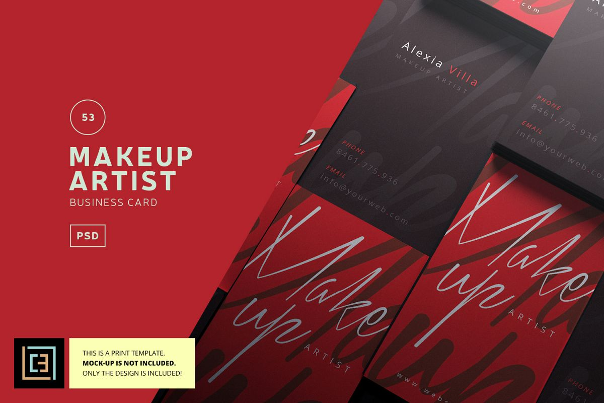 Makeup artist business card bc053 by design bundles makeup artist business card bc053 example image reheart Gallery