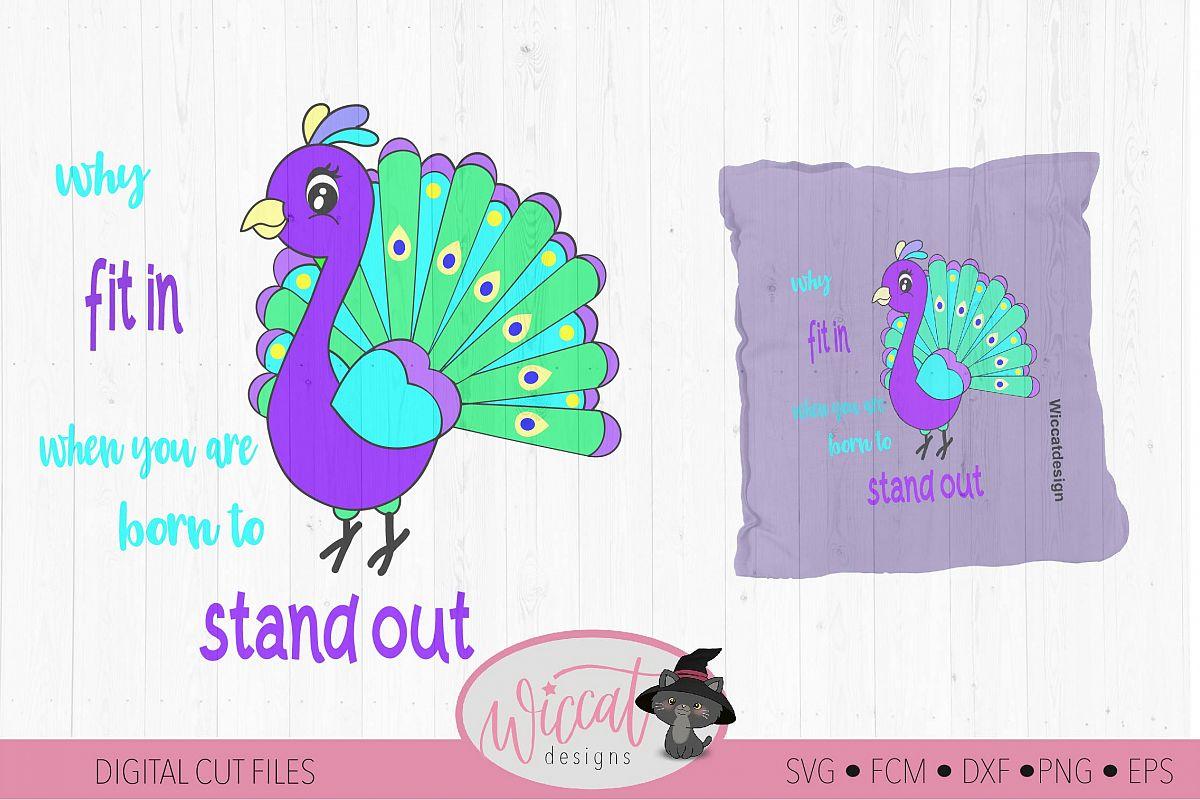 Peacock svg, bird svg, kids cut file example image 1