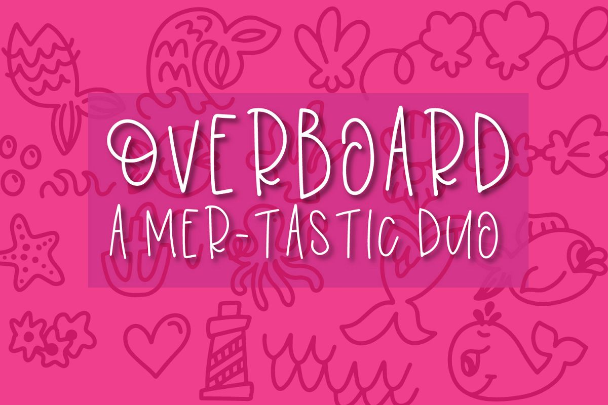 Overboard - A Mermaid Font Duo - Dingbat Font example image 1