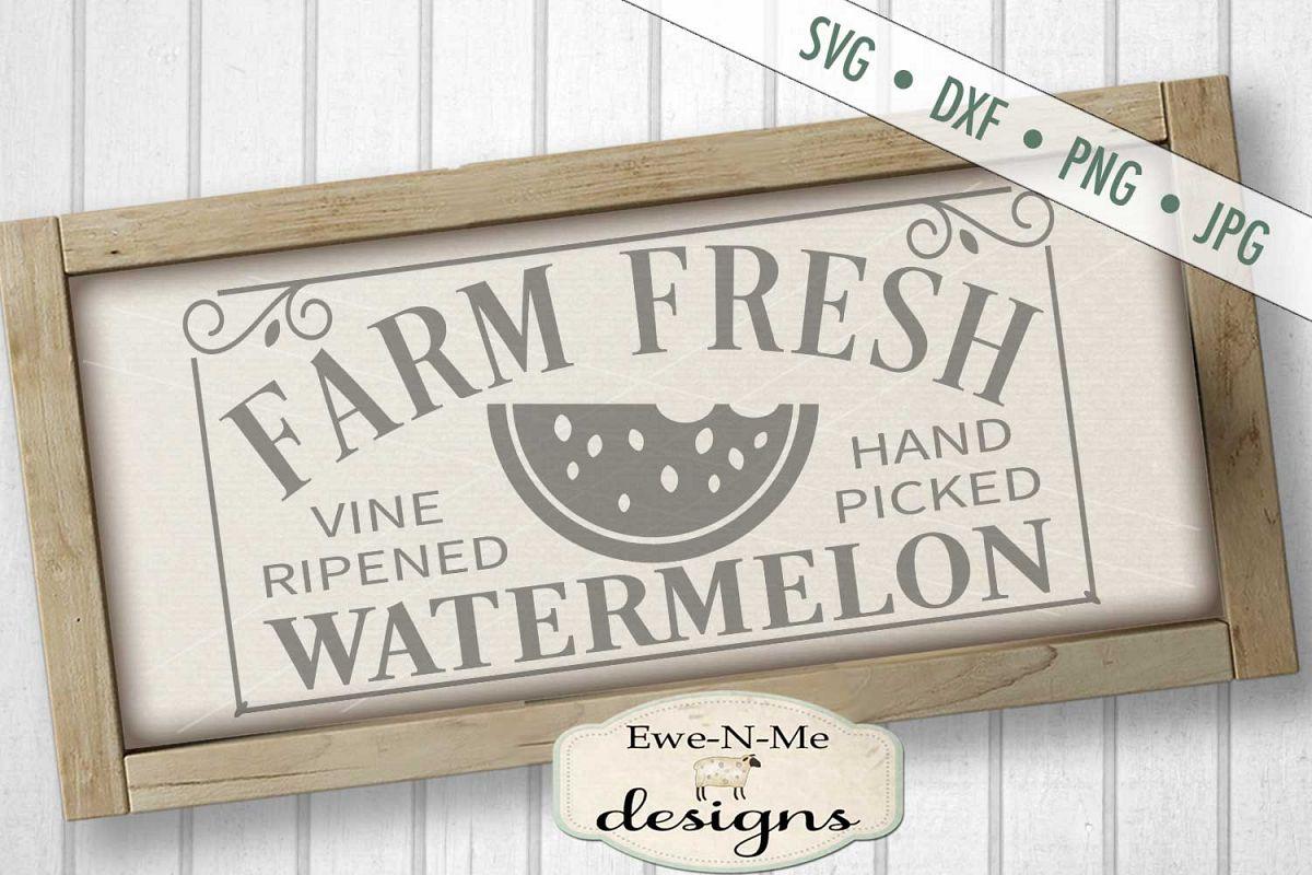 Farm Fresh Watermelon SVG DXF Files example image 1