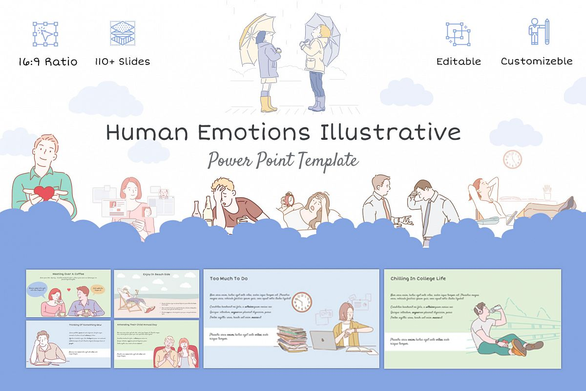 Human Emotions Illustrative Template example image 1