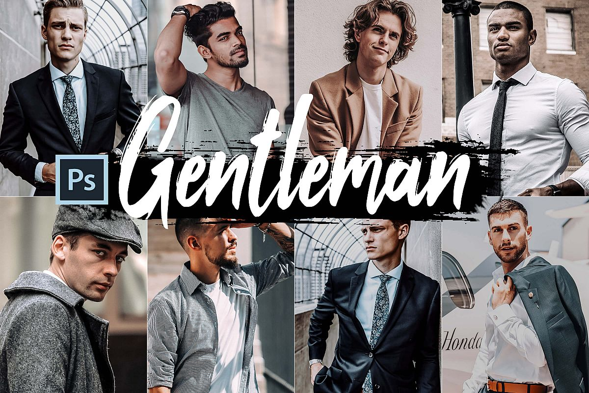 05 Gentleman Photoshop Actions, ACR and LUT presets example image 1