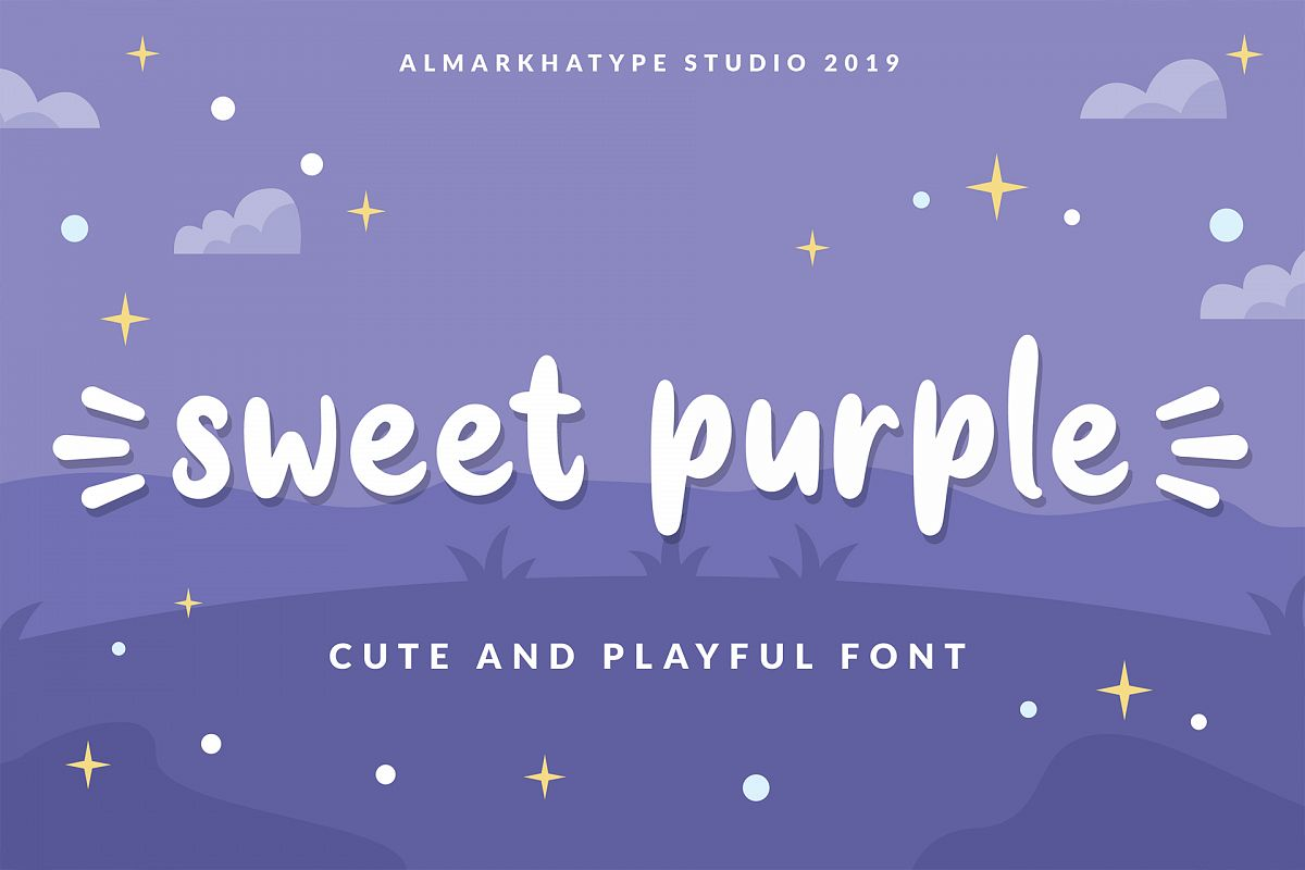 Sweet Purple - Cute & Playful Font example image 1