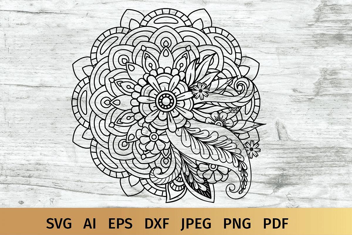 Floral Mandala SVG example image 1