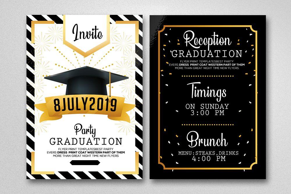Double Sided Graduation Invitation Card (266387) | Card ...