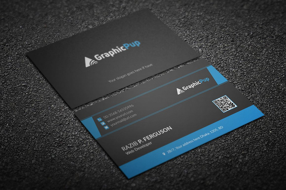 Clean business card by jilapi design bundles clean business card example image colourmoves