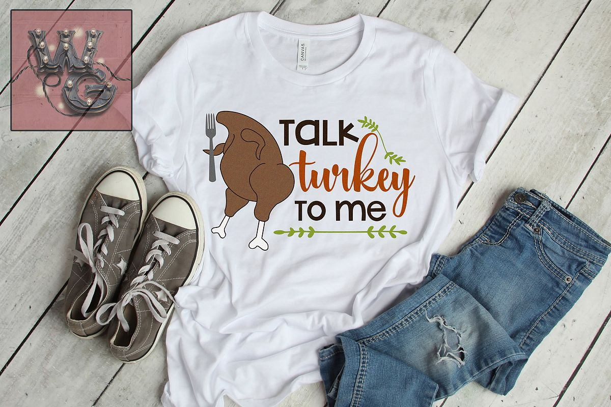 Talk Turkey To Me SVG DXF PNG JPG Comm example image 1