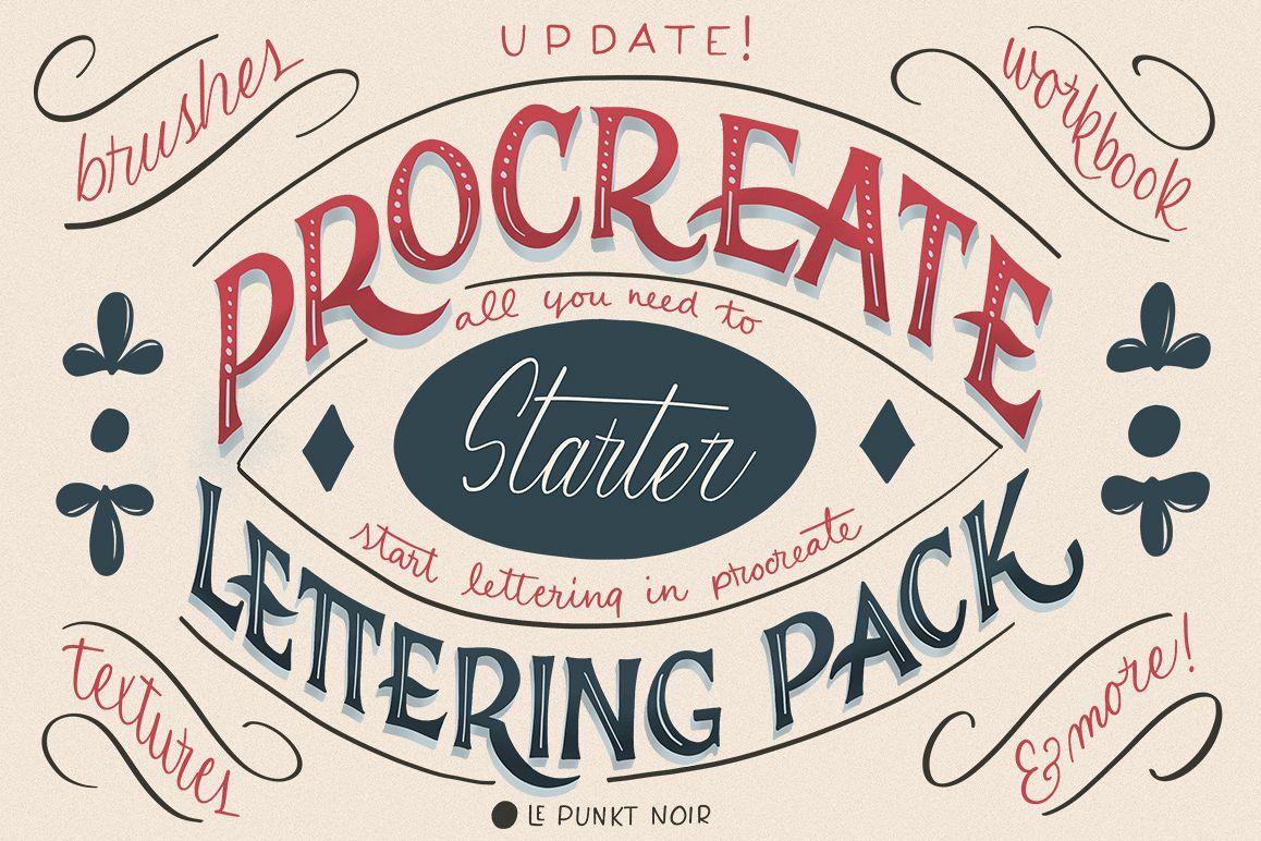 Procreate Lettering Starter Pack example image 1