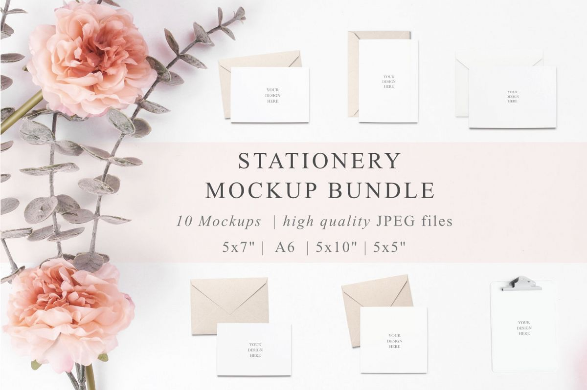 Stationery Mockup Bundle example image 1