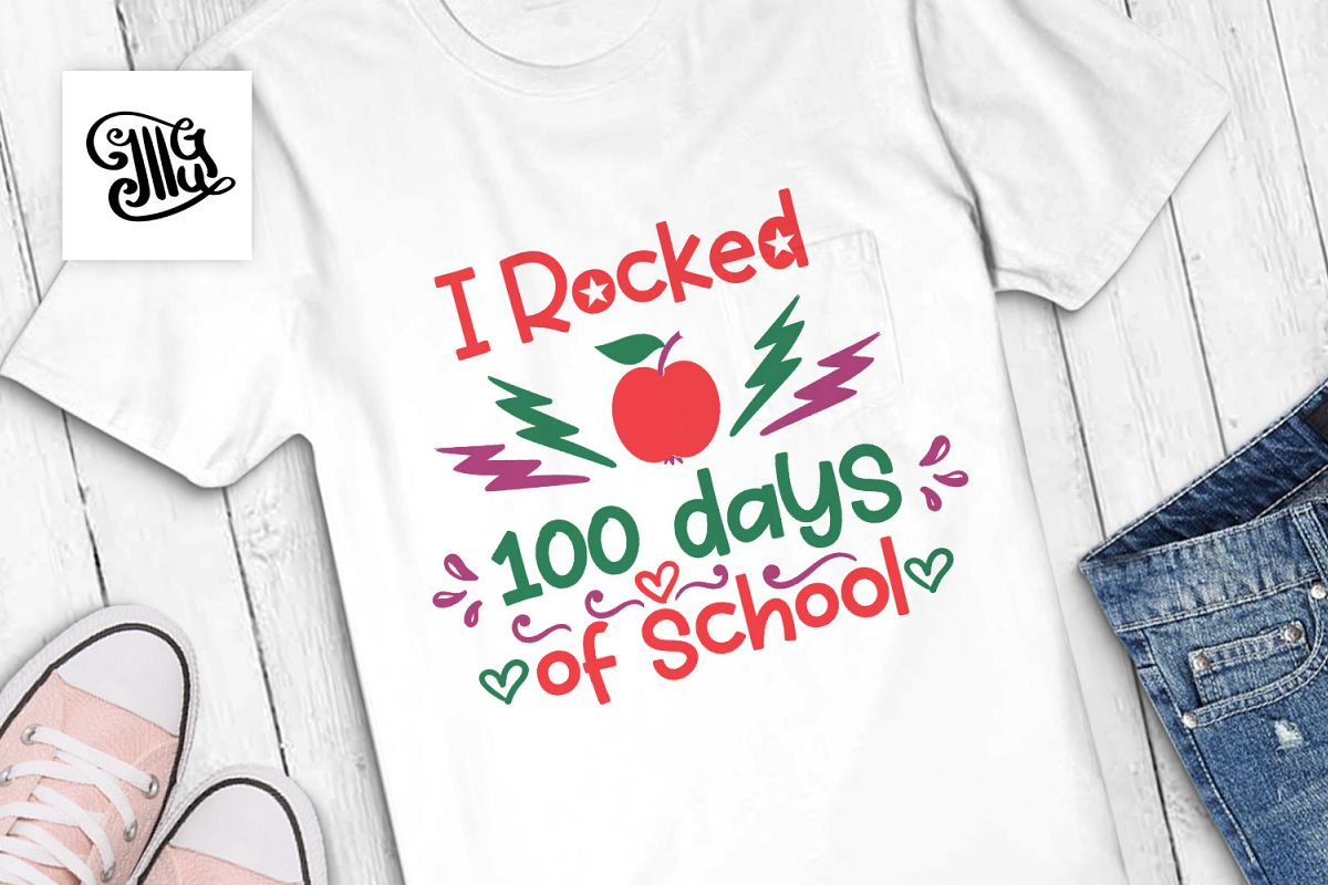 100 days of school for boy and girl svg example image 1