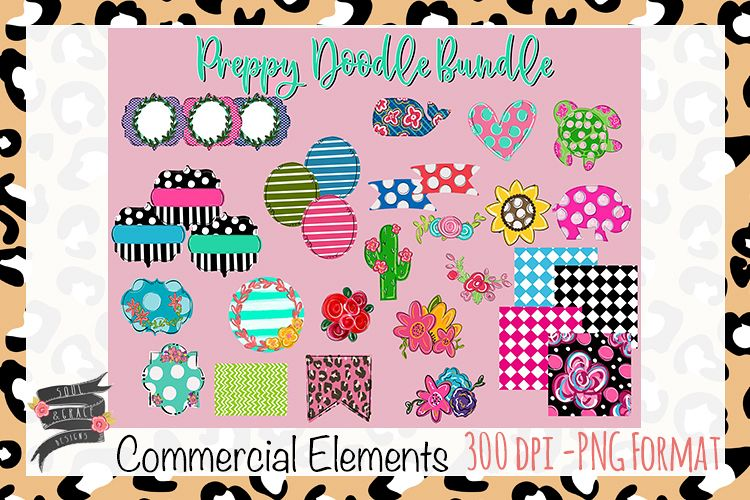 Preppy Doodle Commercial Elements example image 1