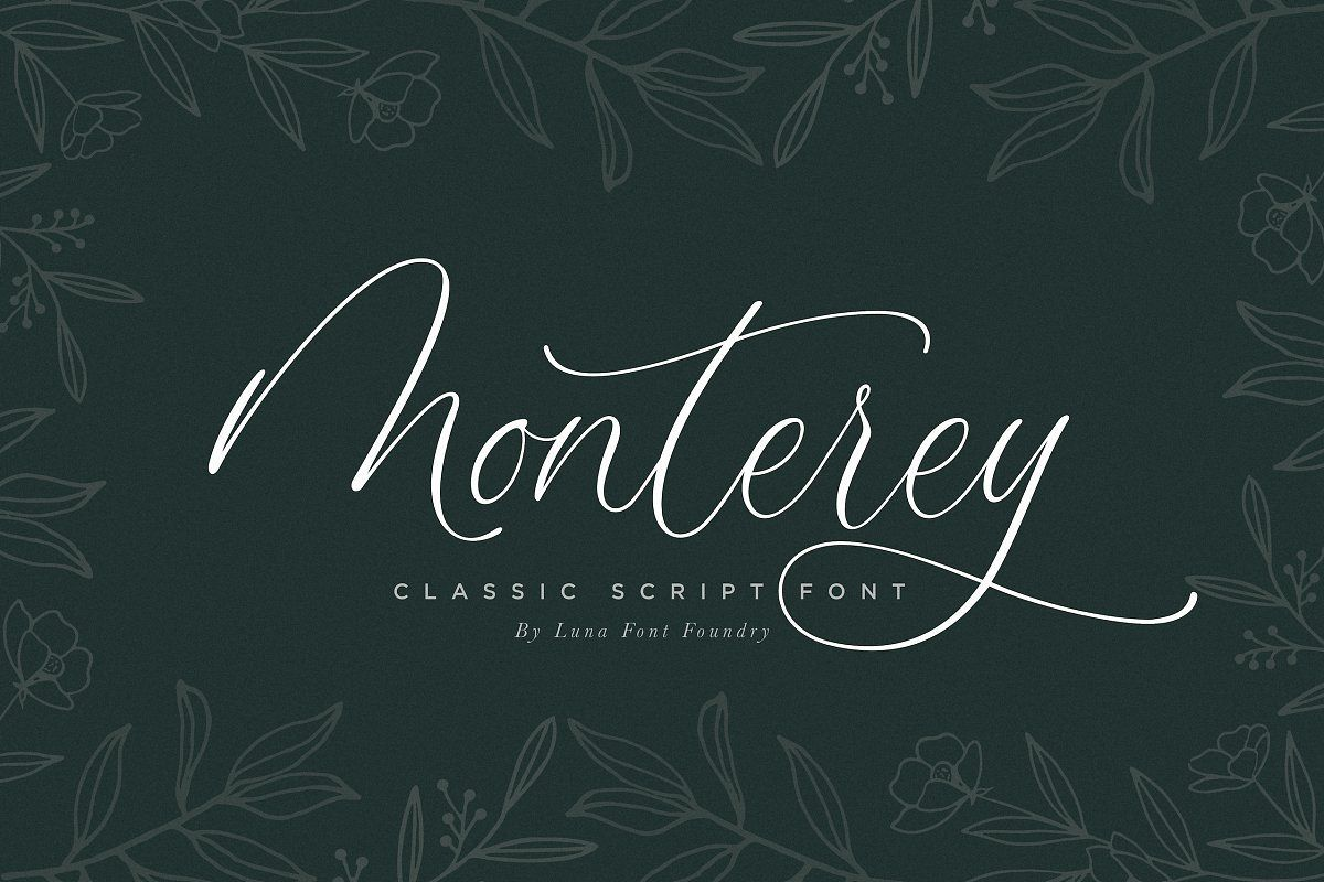 Monterey Script Font example image 1