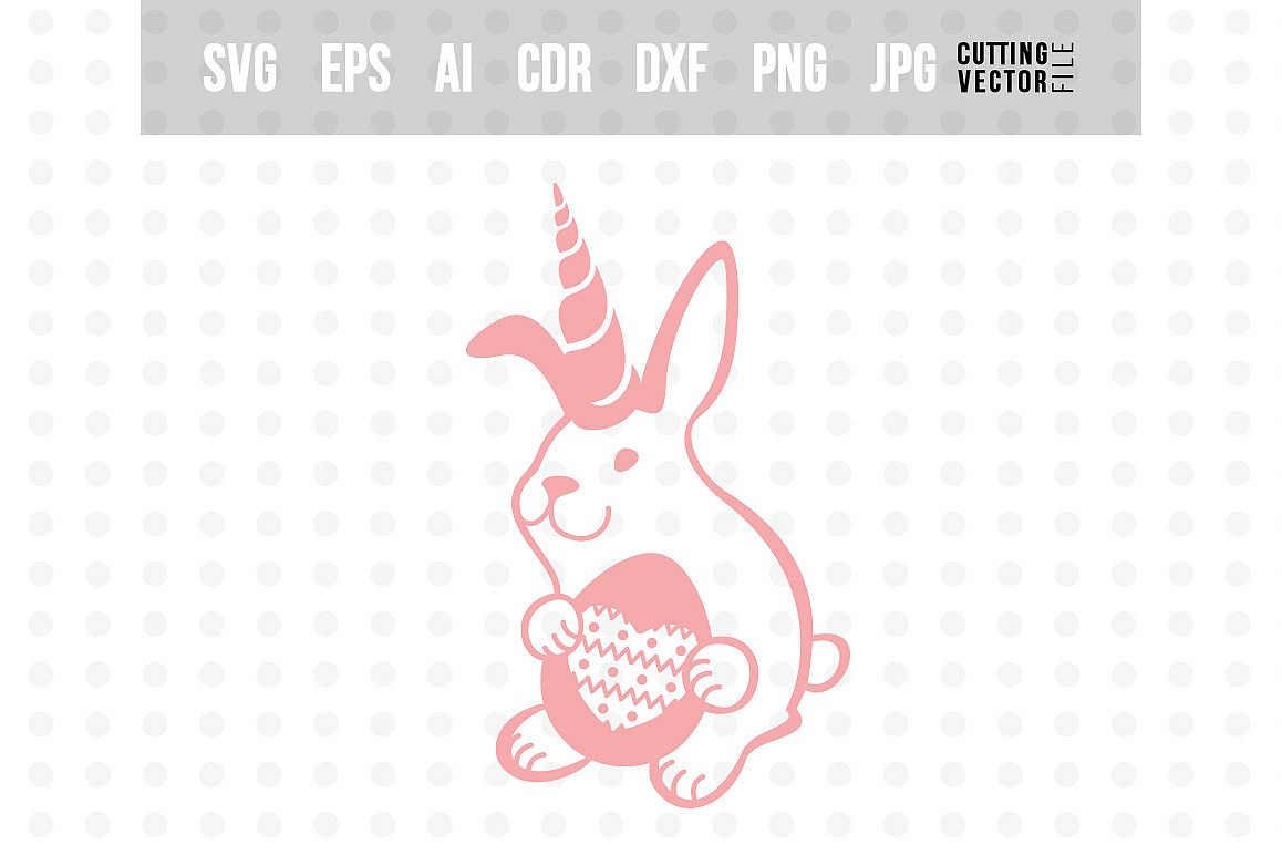 Bunny Unicorn with Egg - Easter Design example image 1