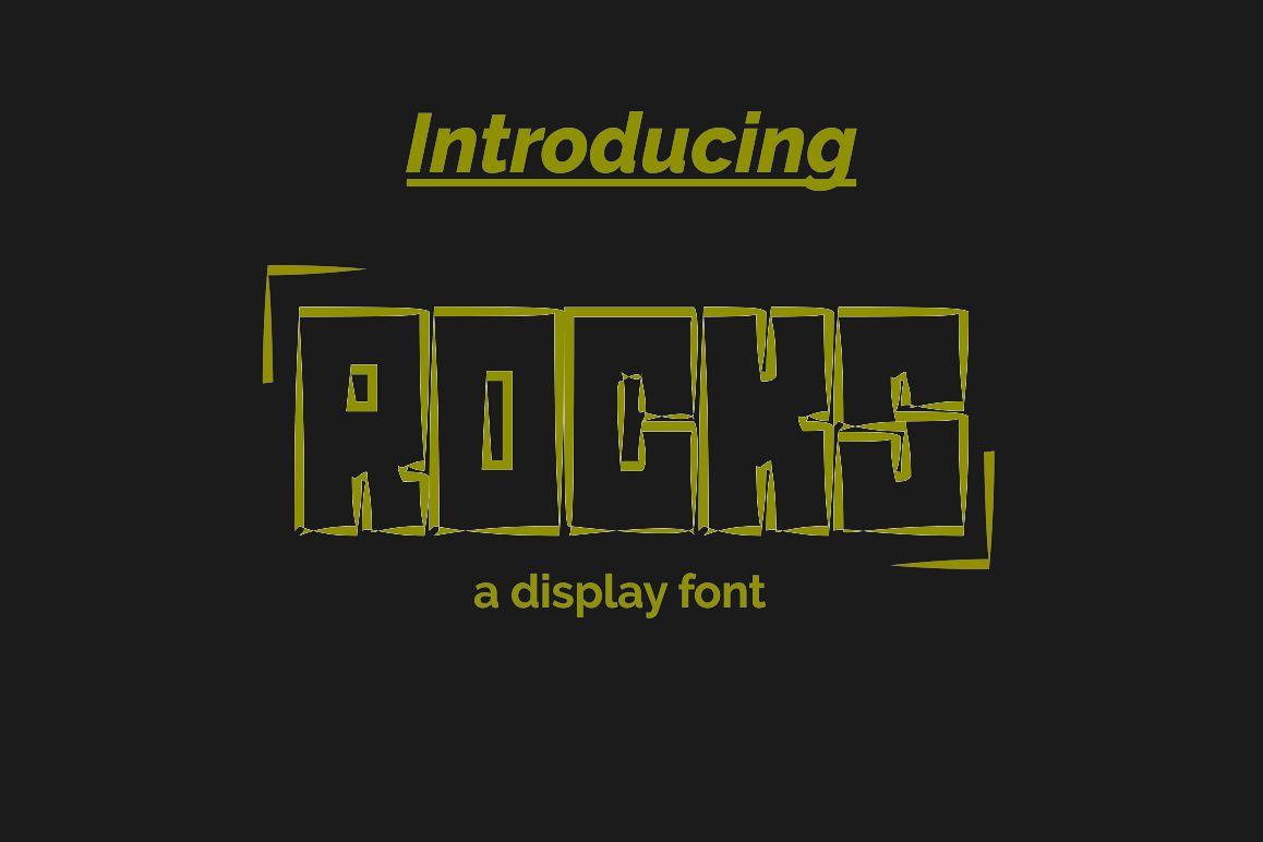 ROCKS Font example image 1