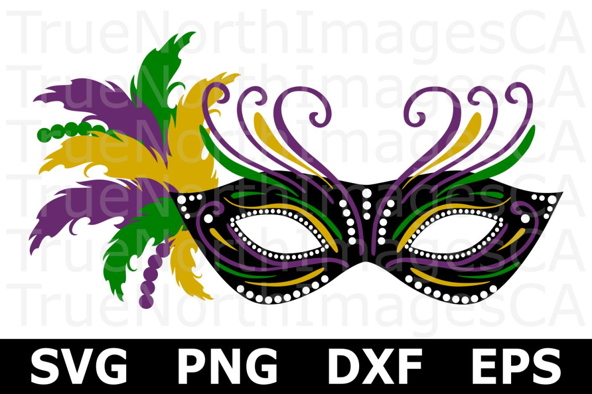 Mardi Gras Mask - A Mardi Gras SVG Cut File example image 1
