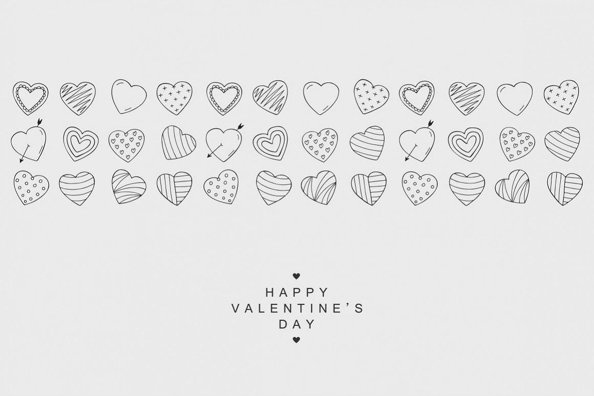Happy Valentine's Day card. Hearts. example image 1