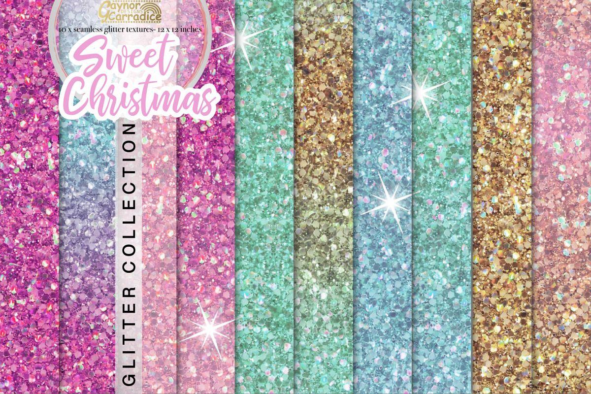 Christmas Unicorn Glitter seamless textures example image 1