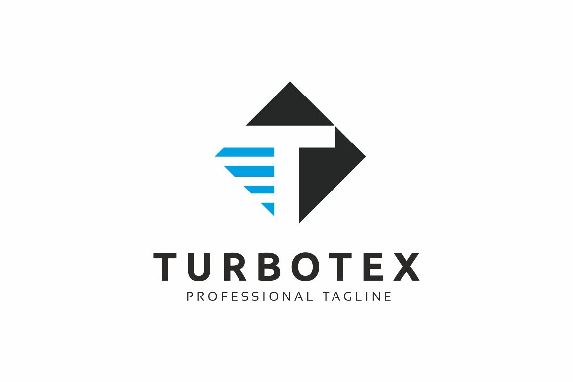Turbotex T Letter Logo example image 1