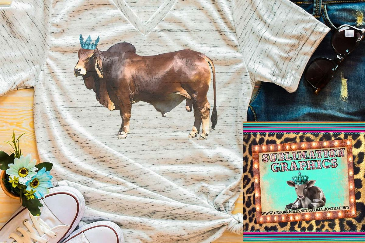 King Brahman Bull Sublimation Download example image 1