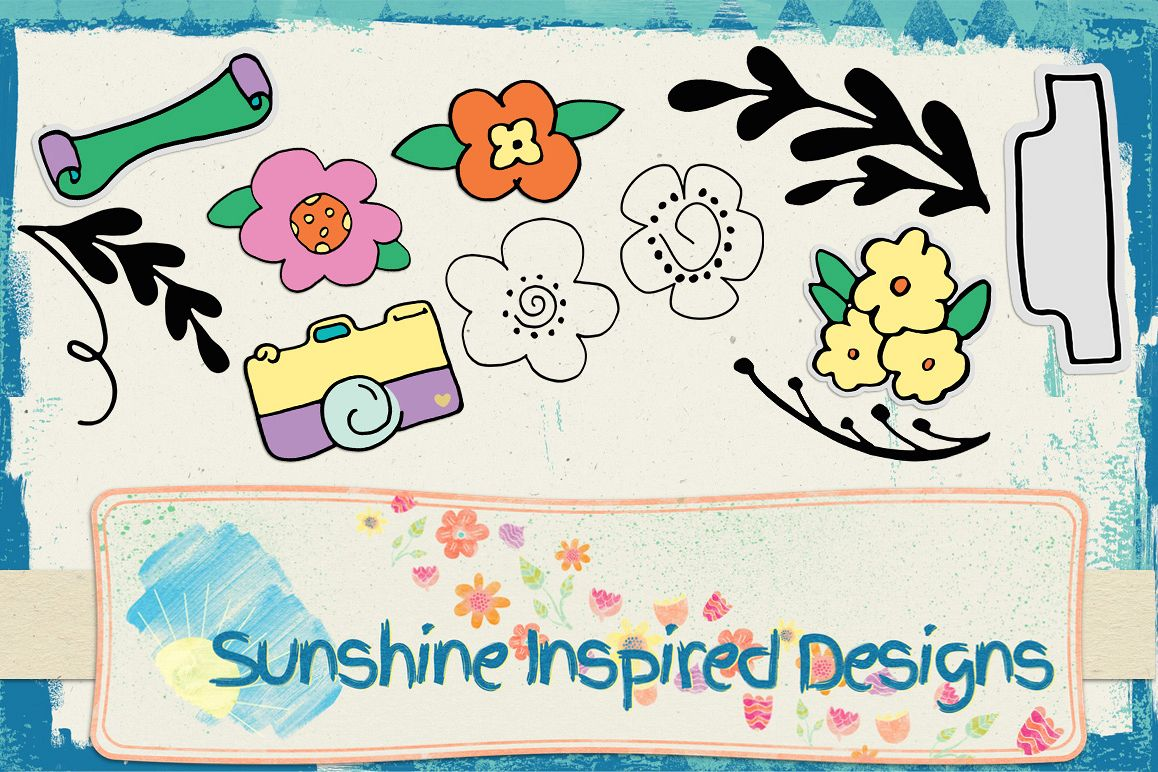 Doodle Templates by Sunshine Inspired D | Design Bundles