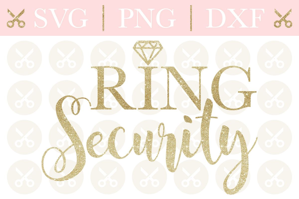 Ring Security Svg Wedding Svg Ring Bearer Svg Cutting File example image 1