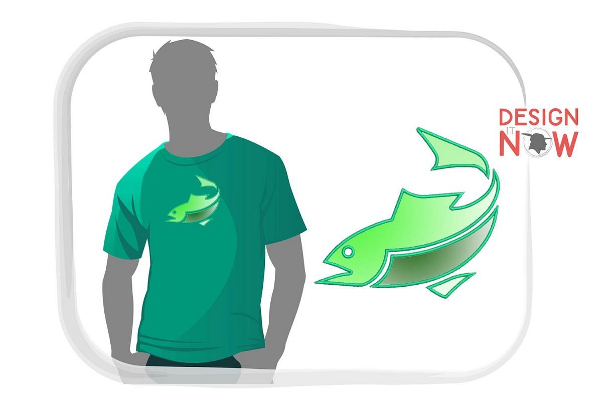 Fish Applique Design, Fish Embroidery Pattern, Sea, Ocean example image 1