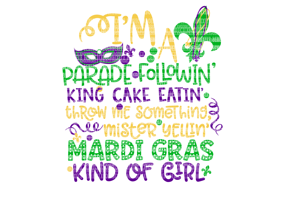 Mardi Gras SVG Files For Cricut SVG Files For Silhouette DXF For Cricut Printable Iron-On Transfer Commercial Use Clipart Stencil example image 1