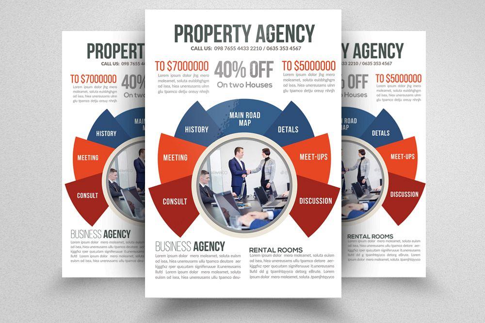 real estate property agency flyer