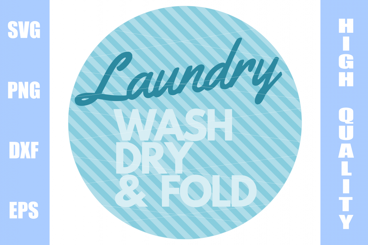 Laundry sign svg file example image 1