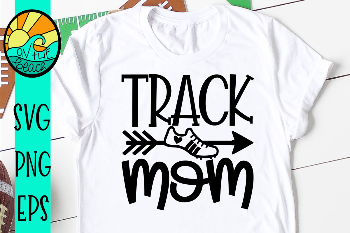 Track Mom - Arrow - Heart - SVG - DXF - EPS - PNG example image 1