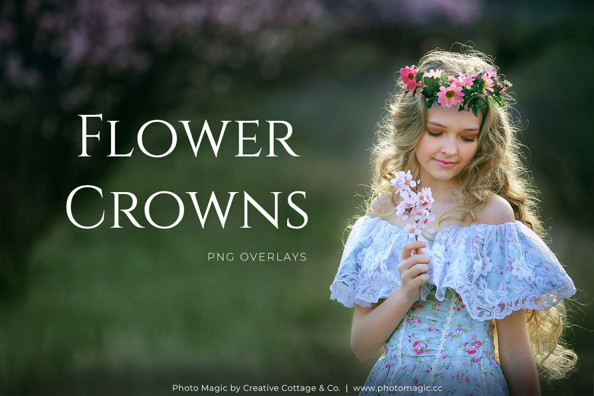 Fantasy Flower Crowns Photo Overlays example image 1