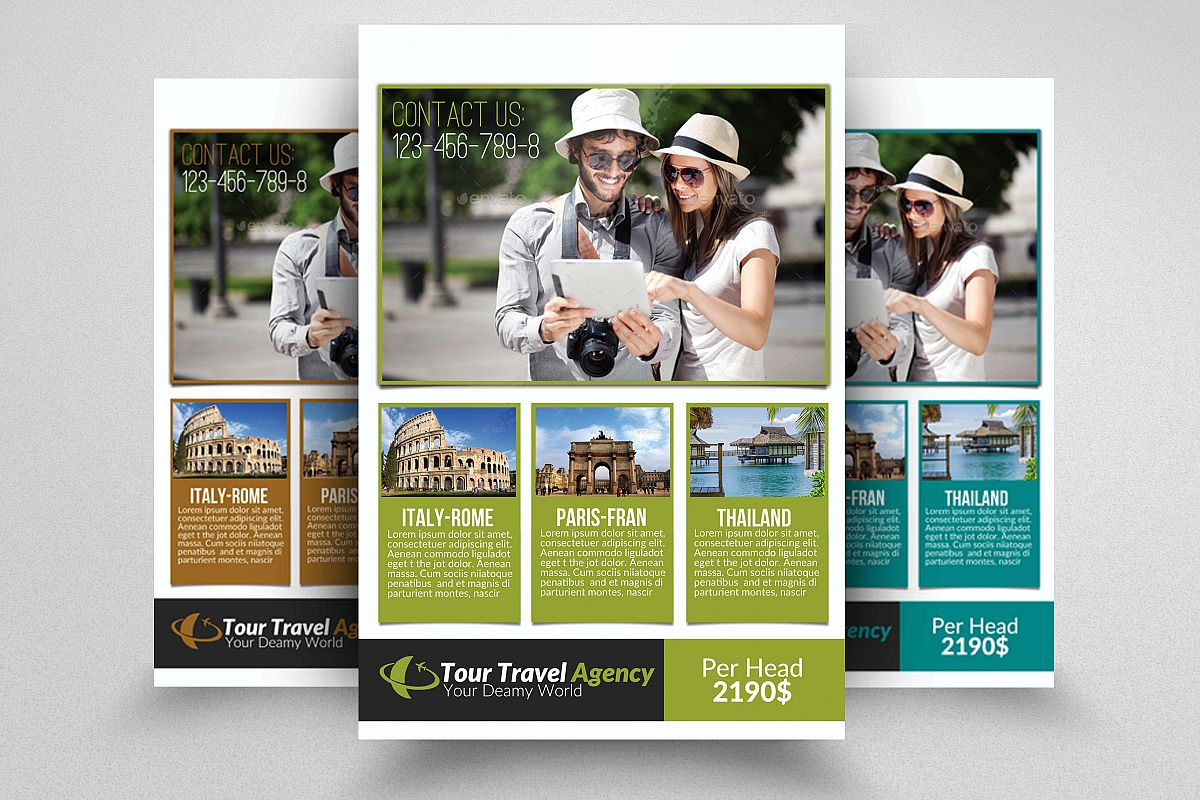 Tour & Tourism Flyer Psd example image 1
