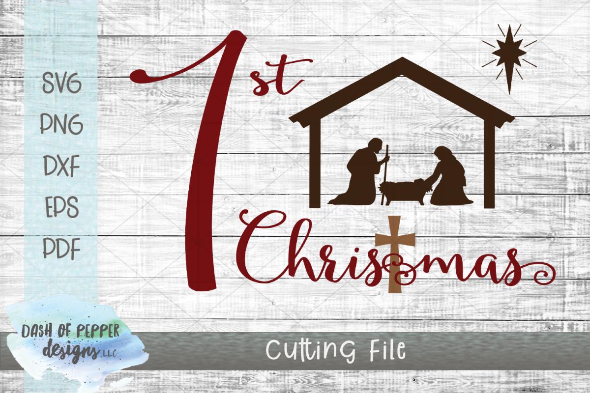 First Christmas SVG - Christmas SVG example image 1