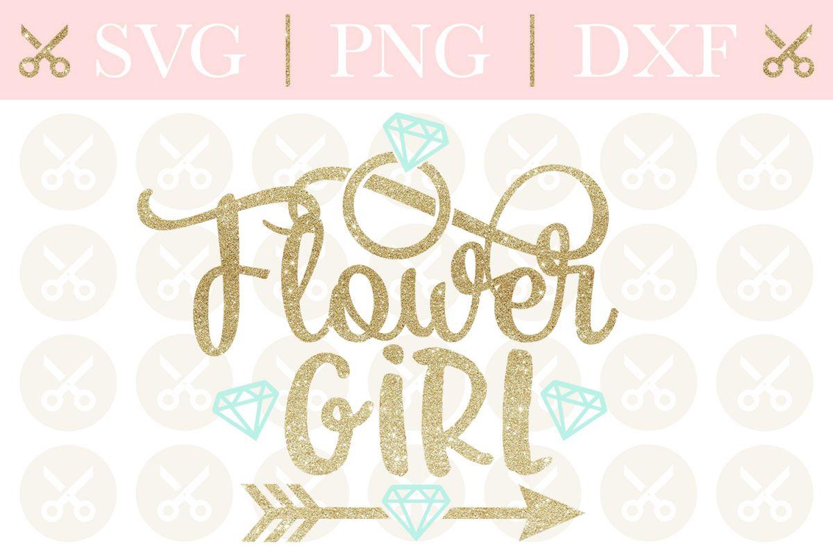Flower Girl Svg Wedding Svg Bridesmaid Svg Cutting File example image 1