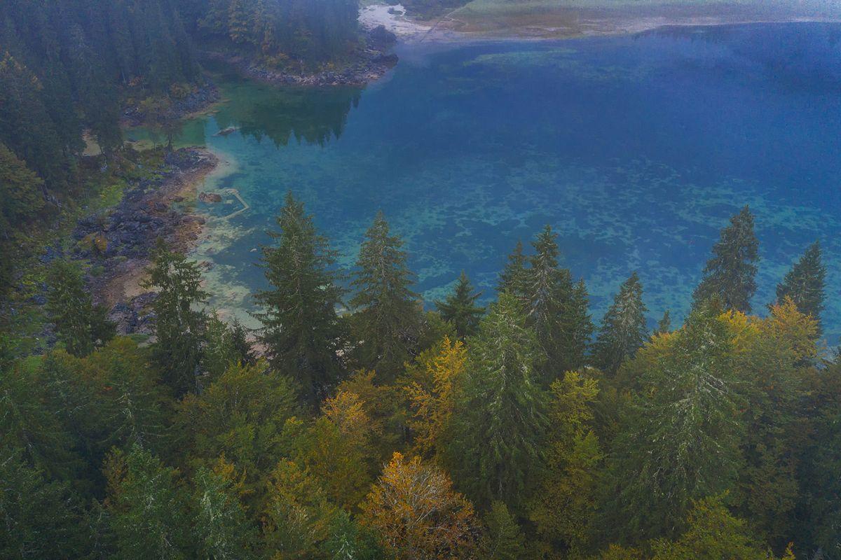 Fusine lake fom above example image 1