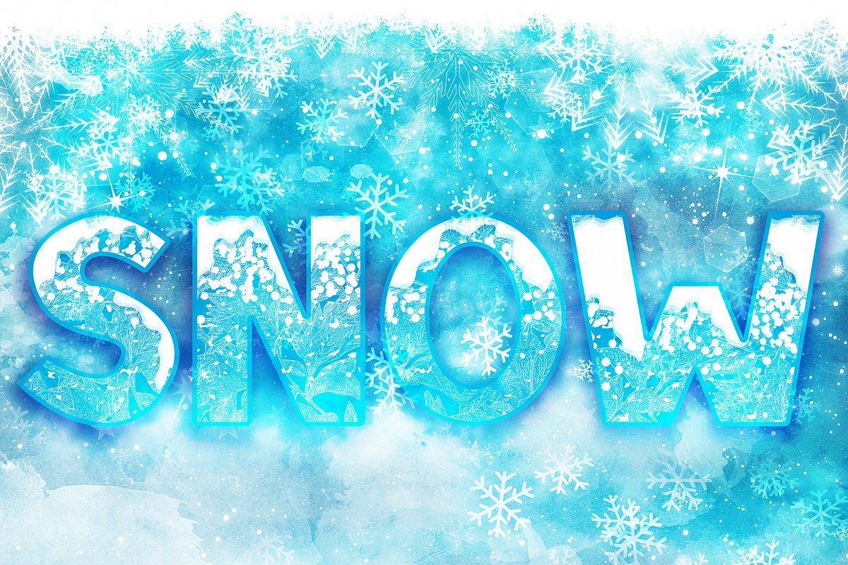 SNOW - Font Family for Christmas! example image 1