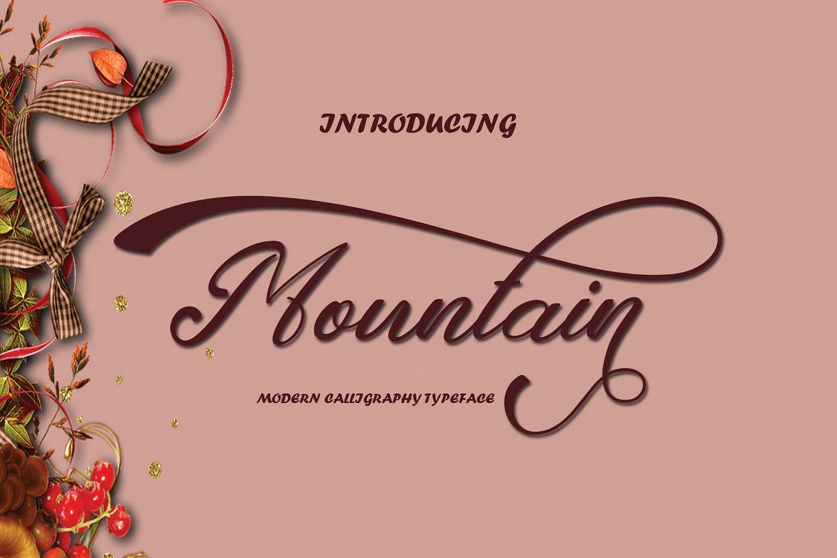 Mountain Script example image 1